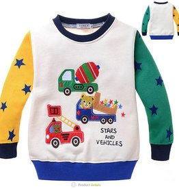 Jongenskleding Beertjes Stars and Vehicles Sweater
