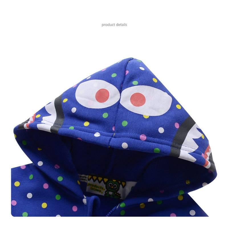 Jongenskleding Monster Jongens Sweatvest - blauw