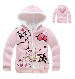 Meisjeskleding Hello Kitty Sweatvest 2 - lichtroze