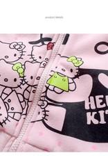 Meisjeskleding Hello Kitty Meisjes Sweatvest 2 - lichtroze