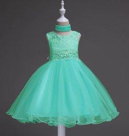 Meisjeskleding Feestjurk Jill - turquoise-groen