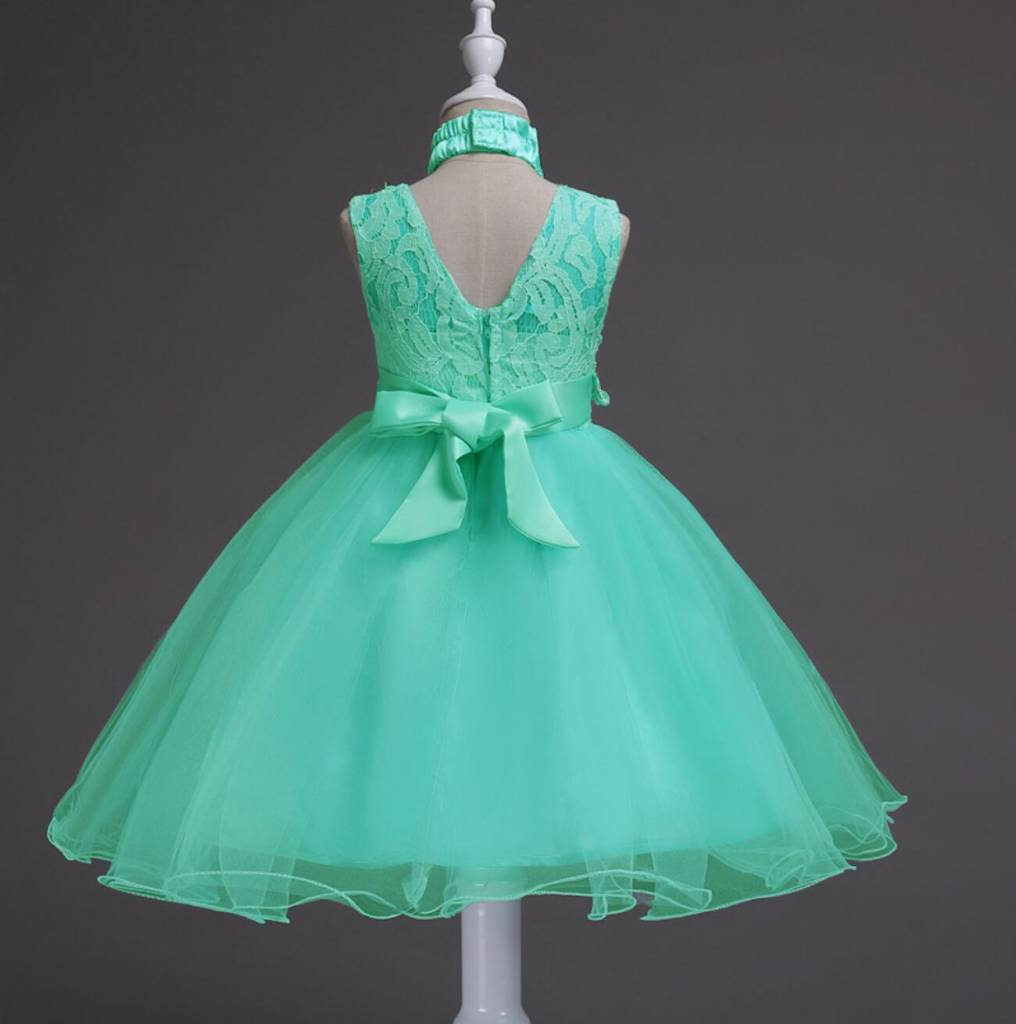 Meisjeskleding Meisjes Feestjurk Jill - turquoise-groen