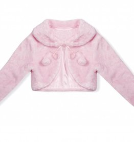 Meisjeskleding Bolero - imitatiebont - roze