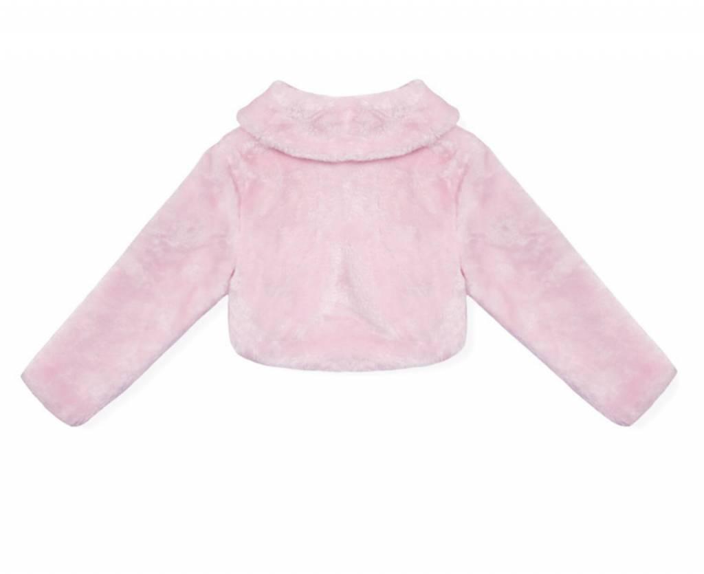 Meisjeskleding Meisjes Feestkleding - Bolero - imitatiebont - roze