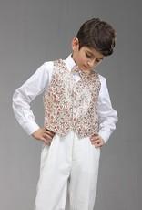 Jongenskleding Jongenskostuum Thomas - wit / bruin (rood goud)
