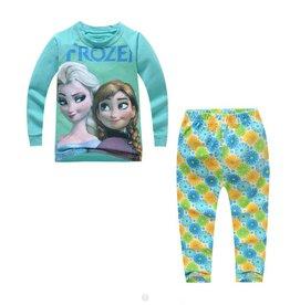 LaraModa Frozen Pyjama - blauw / groen
