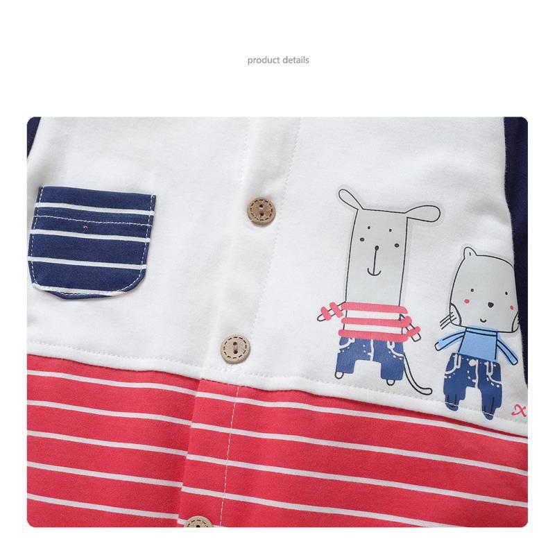 Babykleding Muisjes Jongens Boxpakje - rood / blauw