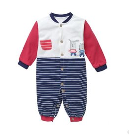 Babykleding Muisjes Boxpakje - blauw / rood