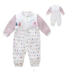 Babykleding Olifantje Boxpakje - wit / roze