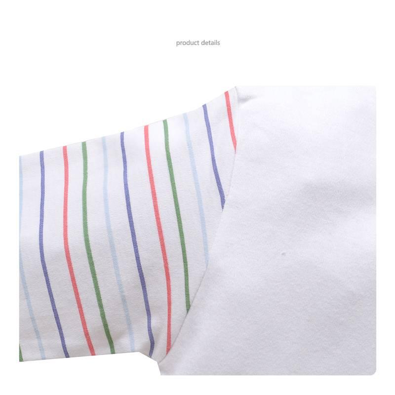 Babykleding Beertje Jongens Pyjama - wit / blauw
