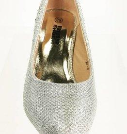 Meisjesschoenen Pumps met strass steentjes - zilver