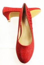 Meisjesschoenen Meisjesschoen - Pumps - glitter - rood