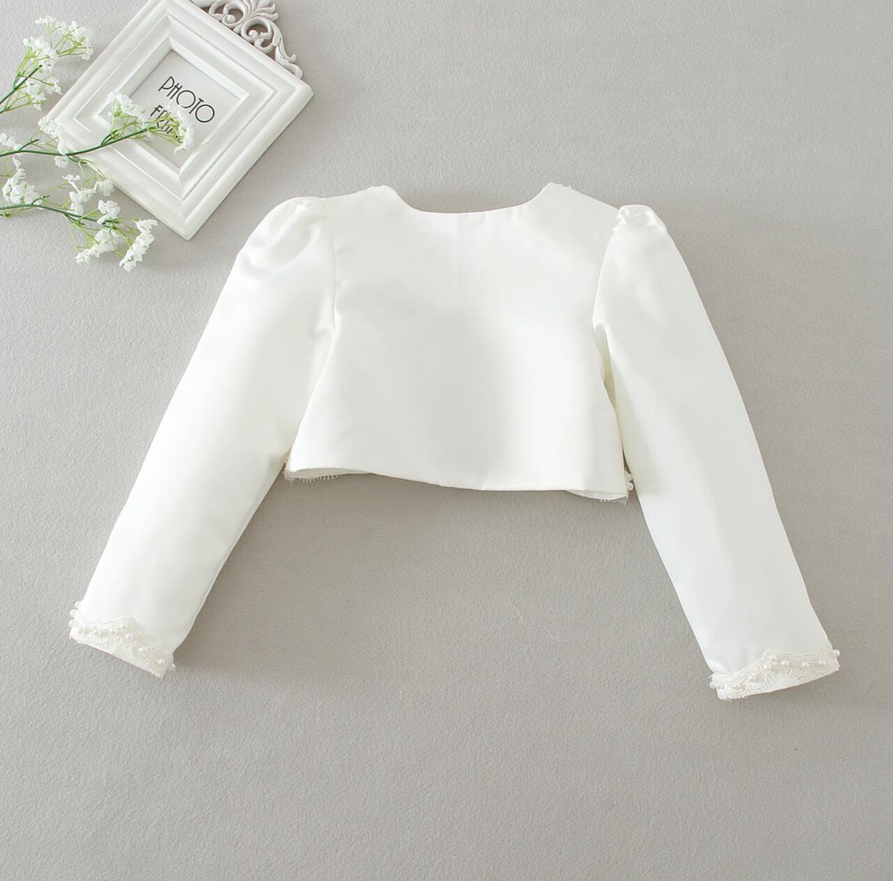 Meisjeskleding Meisjes Feestkleding - Bolero met parels - gebroken wit