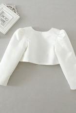 Meisjeskleding Meisjes Feestkleding - Bolero met bloemen - gebroken wit