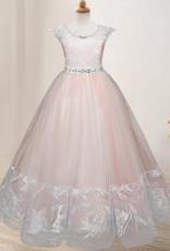 Meisjeskleding Meisjes Feestjurk Nova - roze / zalmroze