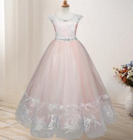 Meisjeskleding Feestjurk Nova - roze / zalmroze