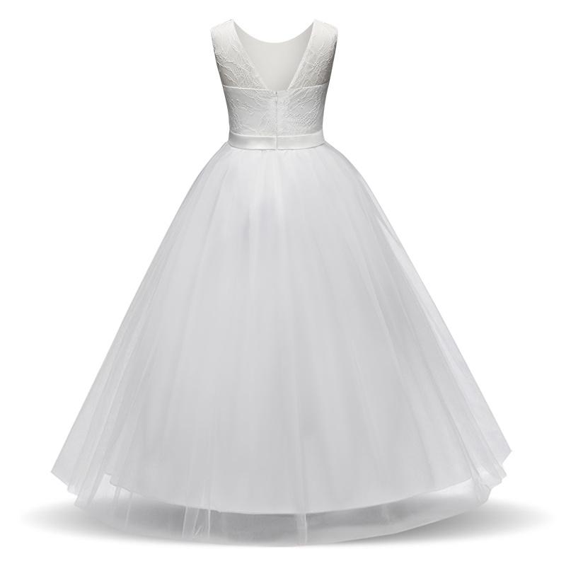 Meisjeskleding Meisjes Feestjurk Olivia - gebroken wit