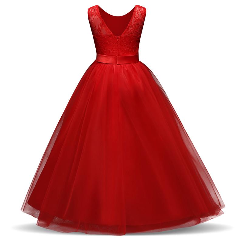 Meisjeskleding Meisjes Feestjurk Olivia - rood
