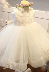 Meisjeskleding Meisjes Feestjurk Lotte - gebroken wit
