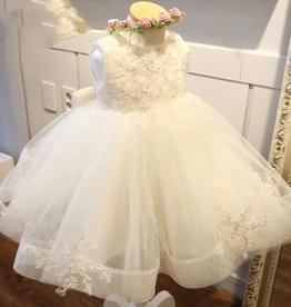 Meisjeskleding Feestjurk Lotte - gebroken wit