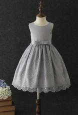 Meisjeskleding Meisjes Feestjurk Elize - grijs
