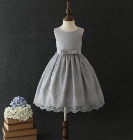 Meisjeskleding Feestjurk Elize - grijs