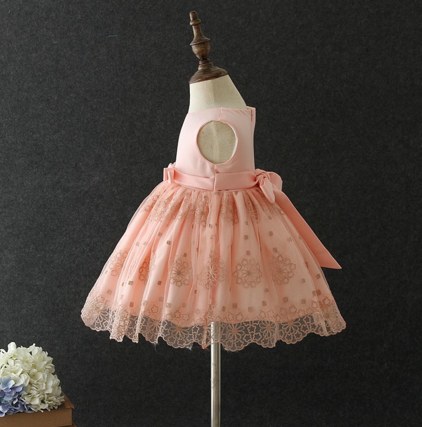 Meisjeskleding Meisjes Feestjurk Elize - roze