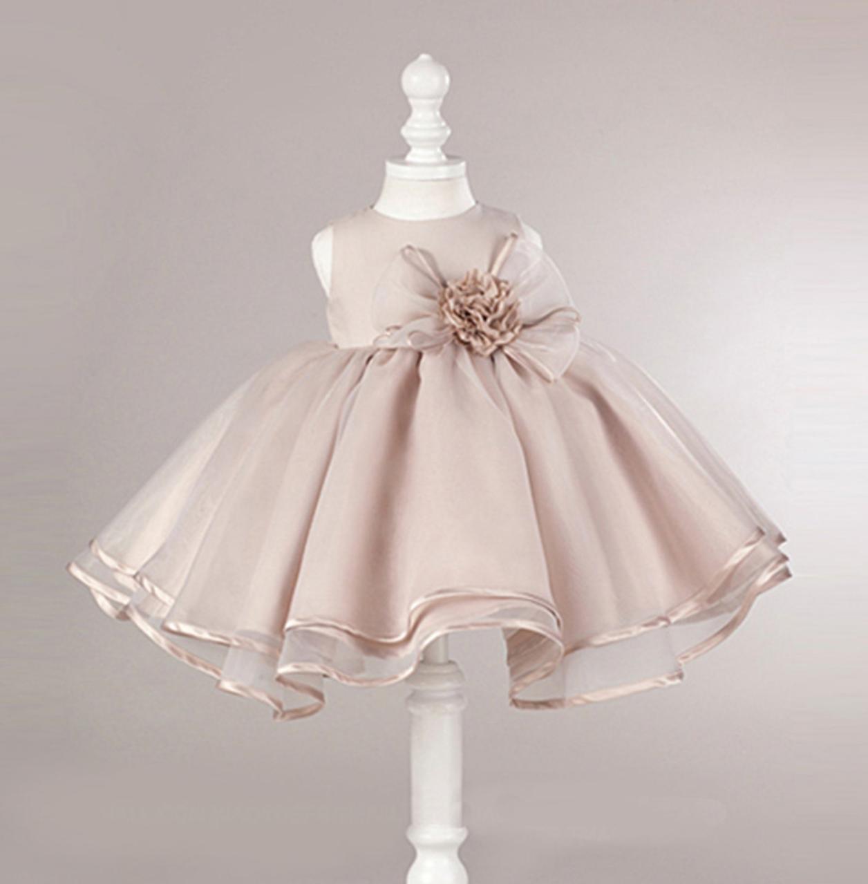 Meisjeskleding Meisjes Feestjurk Laura - peachy pink