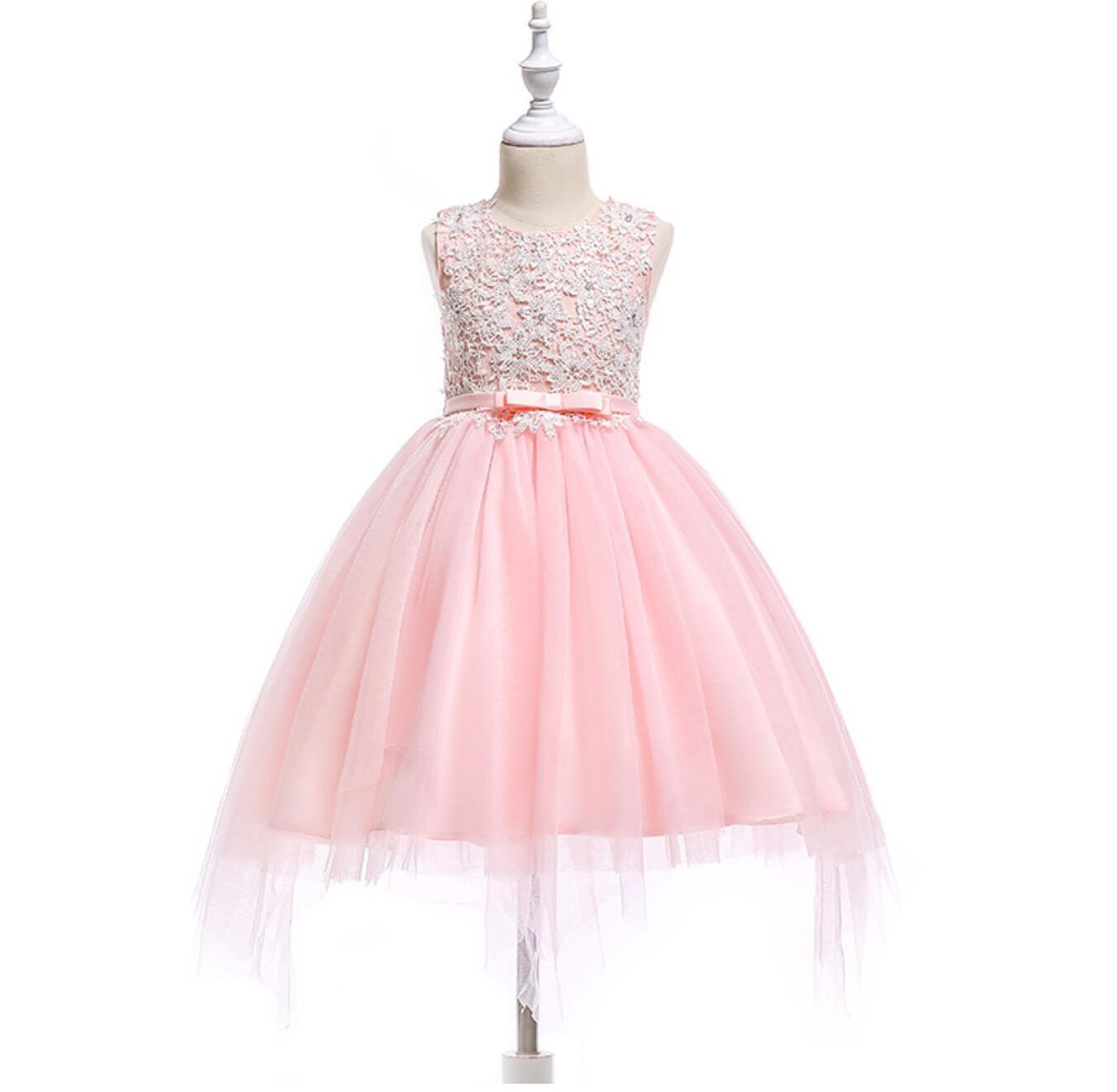 Meisjeskleding Meisjes Feestjurk Carien - roze