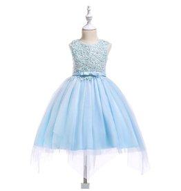 Meisjeskleding Feestjurk Carien - blauw