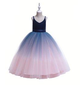 Meisjeskleding Feestjurk Vera - blauw-multi