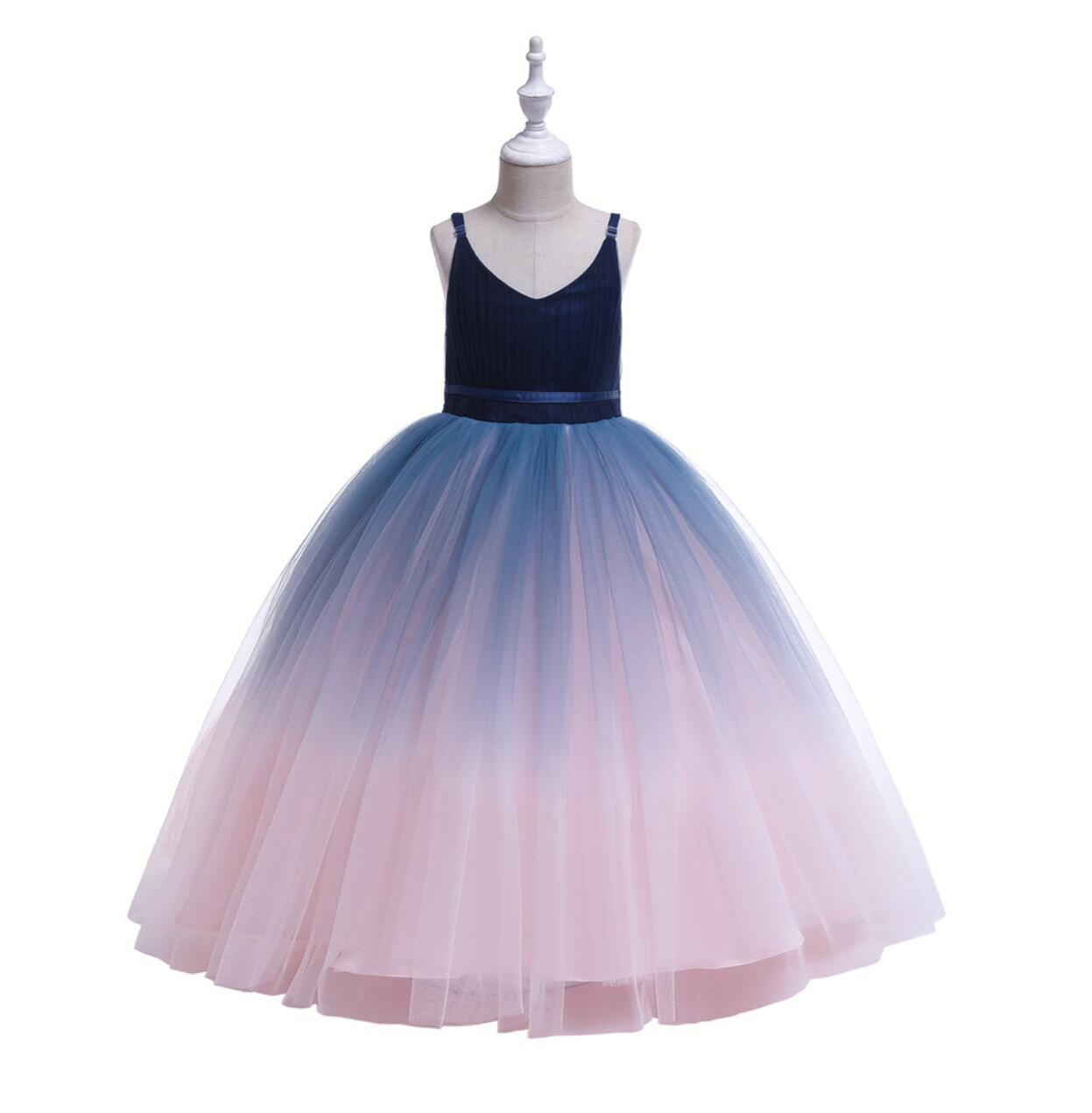 Meisjeskleding Meisjes Feestjurk Vera - blauw-multi