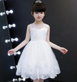 Meisjeskleding Feestjurk Jade - wit