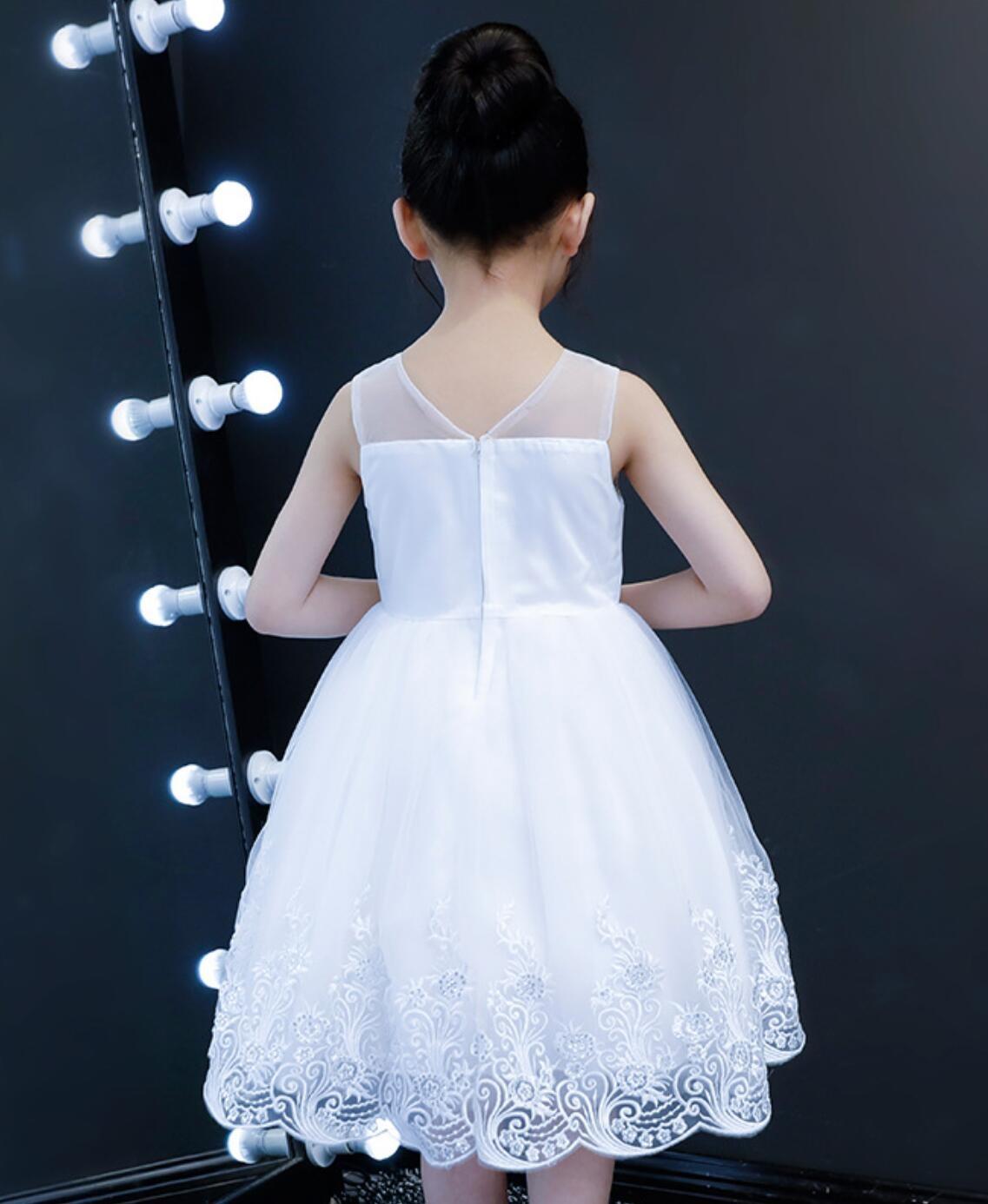 Meisjeskleding Meisjes Feestjurk Jade - wit