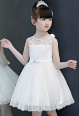Meisjeskleding Meisjes Feestjurk Ilse - gebroken wit