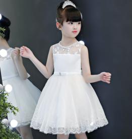 Meisjeskleding Feestjurk Ilse - gebroken wit