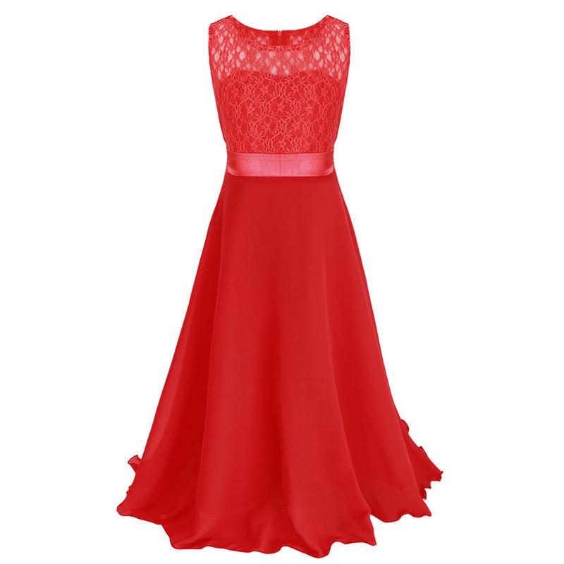 Meisjeskleding Meisjes Feestjurk Bella - rood