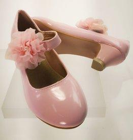 Meisjesschoenen Spaanse schoentjes - lak - roze - bloem