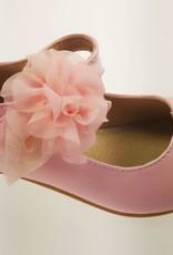 Meisjesschoenen Meisjesschoen - Spaanse schoentjes - lak - roze - bloem