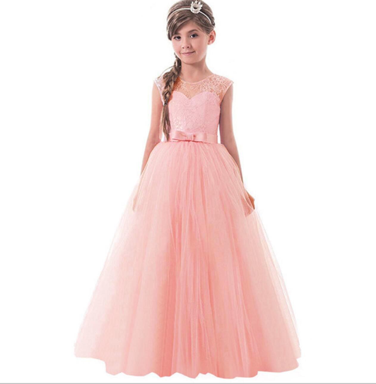 Meisjeskleding Meisjes Feestjurk Olivia - roze / zalmroze