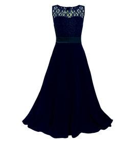 Meisjeskleding Feestjurk Bella - navy blauw