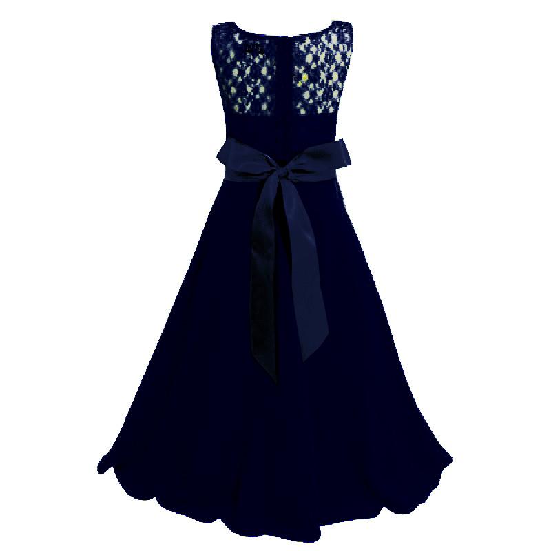 Meisjeskleding Meisjes Feestjurk Bella - navy blauw