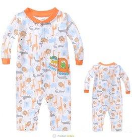 Babykleding Safari Dieren Boxpakje - wit / oranje