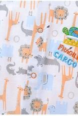 Babykleding Safari Dieren Jongens Boxpakje - wit / oranje