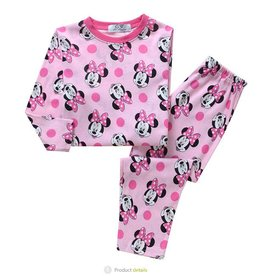 Meisjespyjama's Minnie Mouse en stippen Pyjama - roze