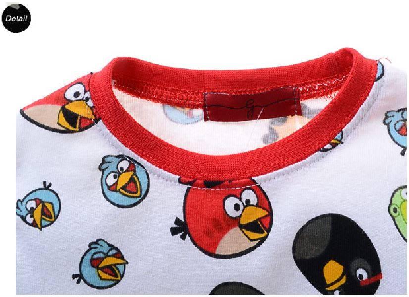 Jongenspyjama's Angry Birds Jongens Pyjama - wit