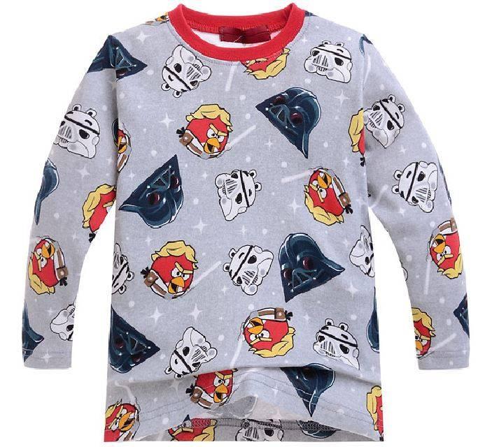 Jongenspyjama's Angry Birds Star Wars Jongens Pyjama - grijs