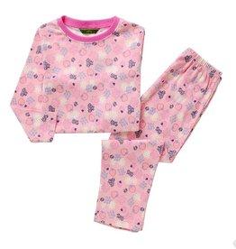 Meisjespyjama's Aardbeien en Bloemetjes Pyjama - roze