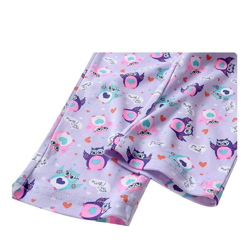 Meisjespyjama's Uiltjes Meisjes Pyjama - paars