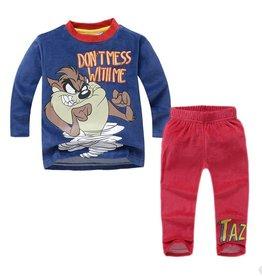 Jongenspyjama's Tasmanian Devil Pyjama - fleece - blauw / rood